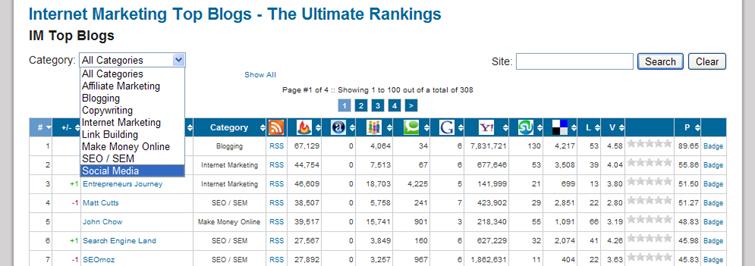 인터넷 마케팅 블로그 TOP100