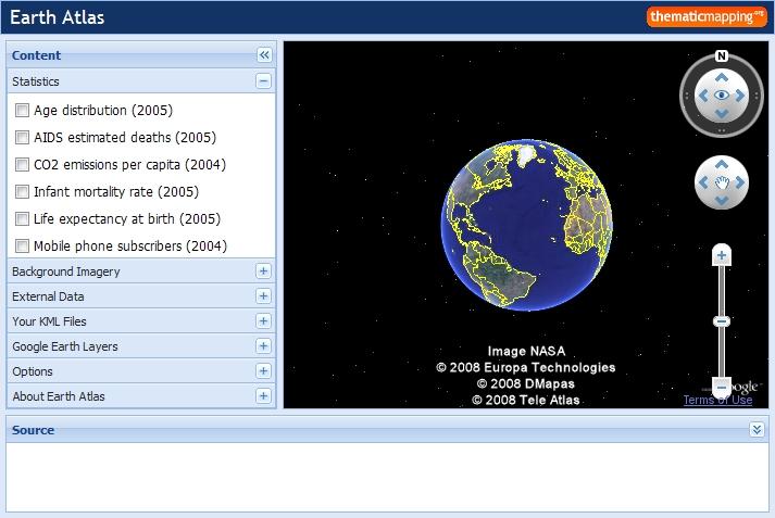 구글어스 플러그인 사례 - Earth Atlas