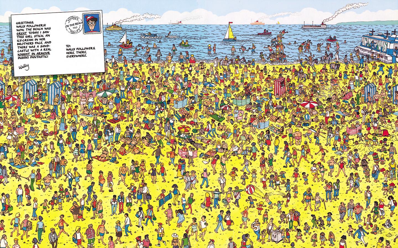 월리를 찾아라-해수욕장편