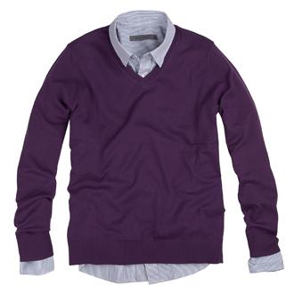 보라색 스웨터