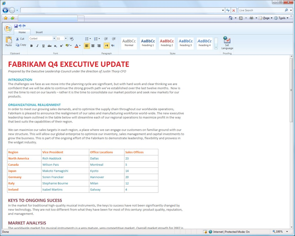 ms office web component(Word)
