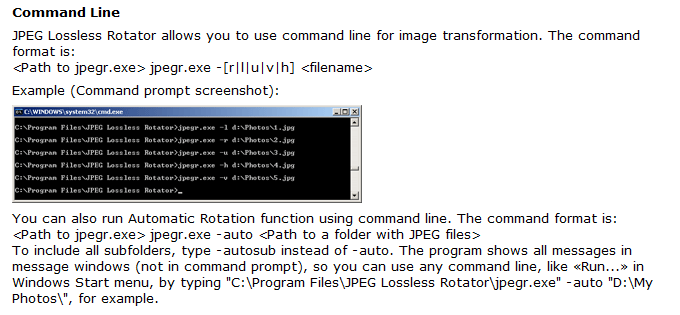 JPEG Lossless Rotator