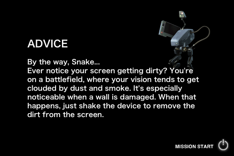 UI Design of <Metal Gear Solid>: Cleaning Up the Dust