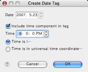 Create Date Tag