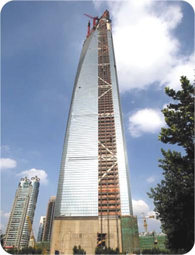 세계 최고(高) 건물--상하이 국제금융센터 곧 완공