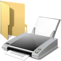 folder and printer
