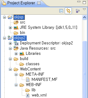 Java Project and Dynamic Web Project