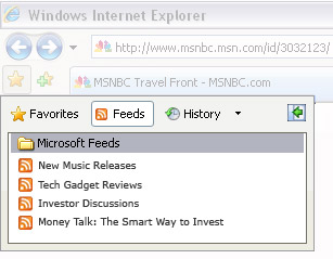 Windows Internet Explorer Favorite