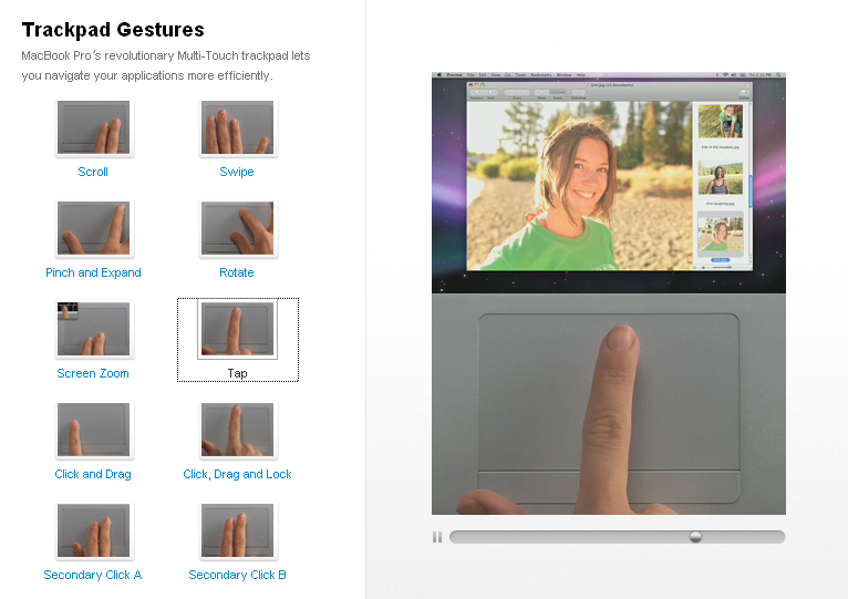 Trackpad Gestures of MacBook Pro & Air (NOT all is multi-touch!)