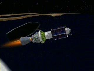 WorldView-1 위성 분리