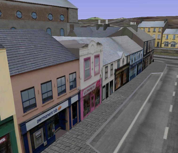 아일랜드 Westport의 3차원도시