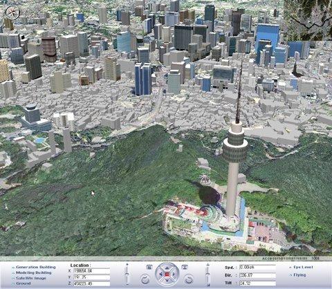 서울시 3차원 모델.