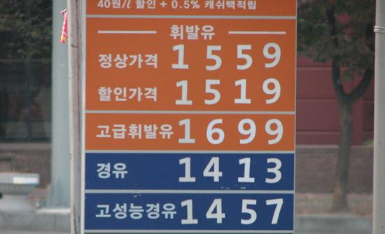 휘발유 가격