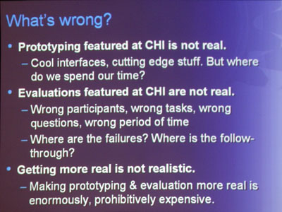 Slide from Panel Discussion at CHI 2007