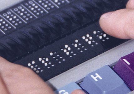 Refreshable Braille Display (close up)
