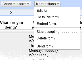 Google Docs Form - Share and more