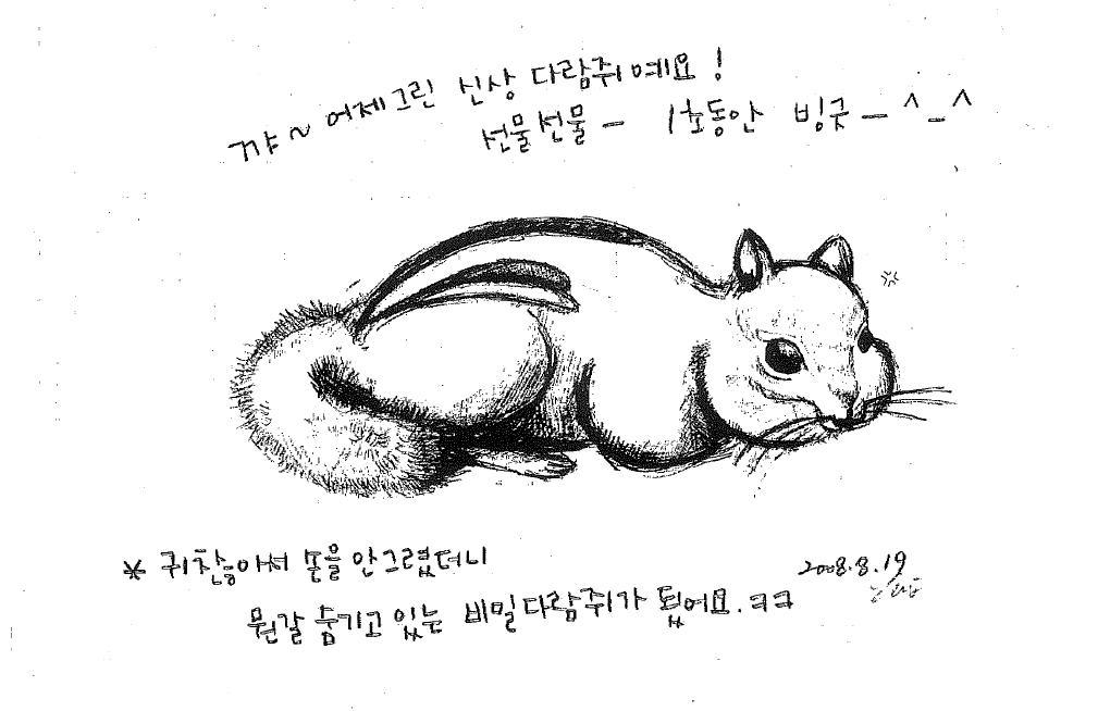밤~*양이 보내 준 위로의 Fax