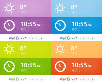 W 위젯 날씨와 시간