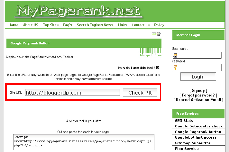 My Pagerank
