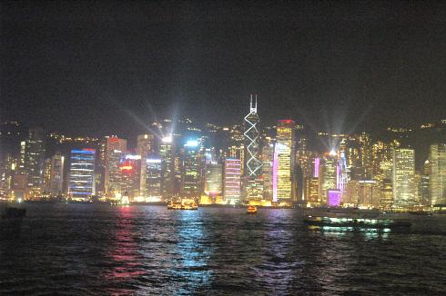 홍콩 야경 심포니오브라이트
