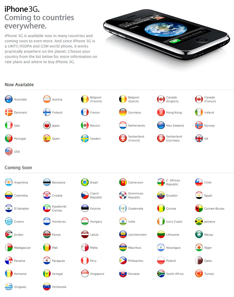 iPhone 3G 발매