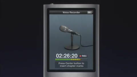 Voice Recorder on Mic-less iPod nano 4G