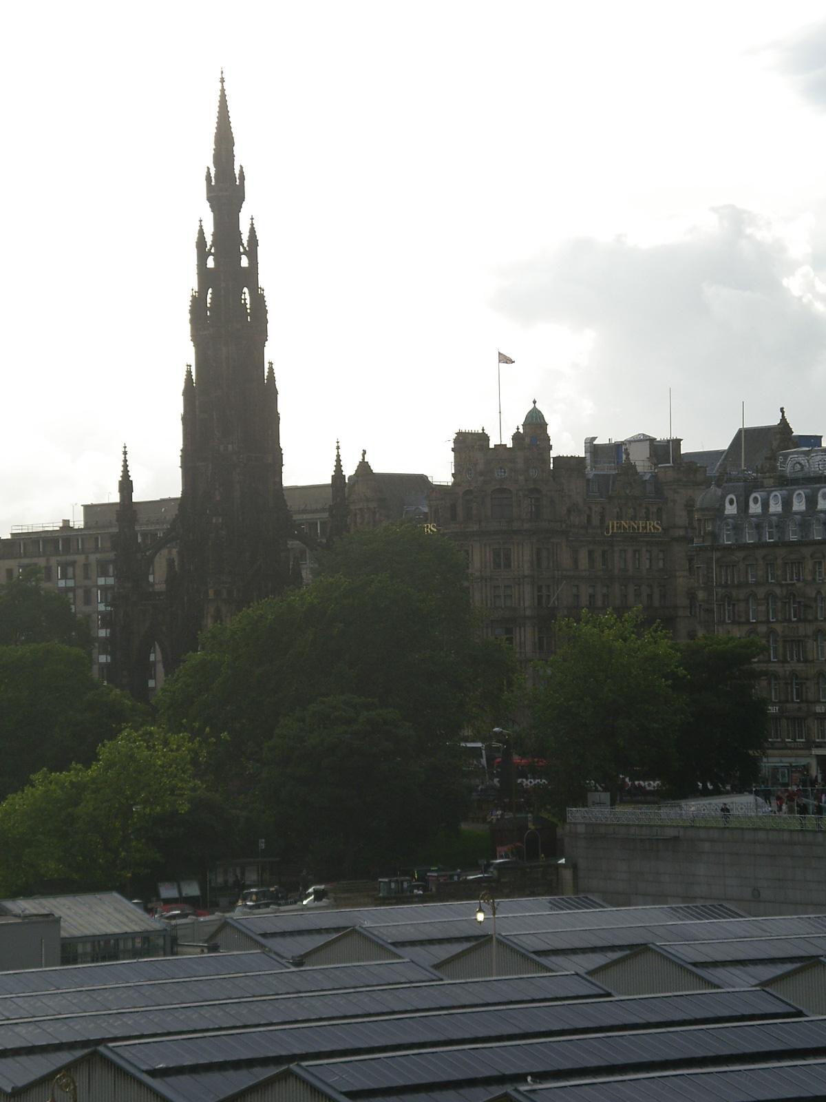 Scenary with Scott Monument, Edinburgh