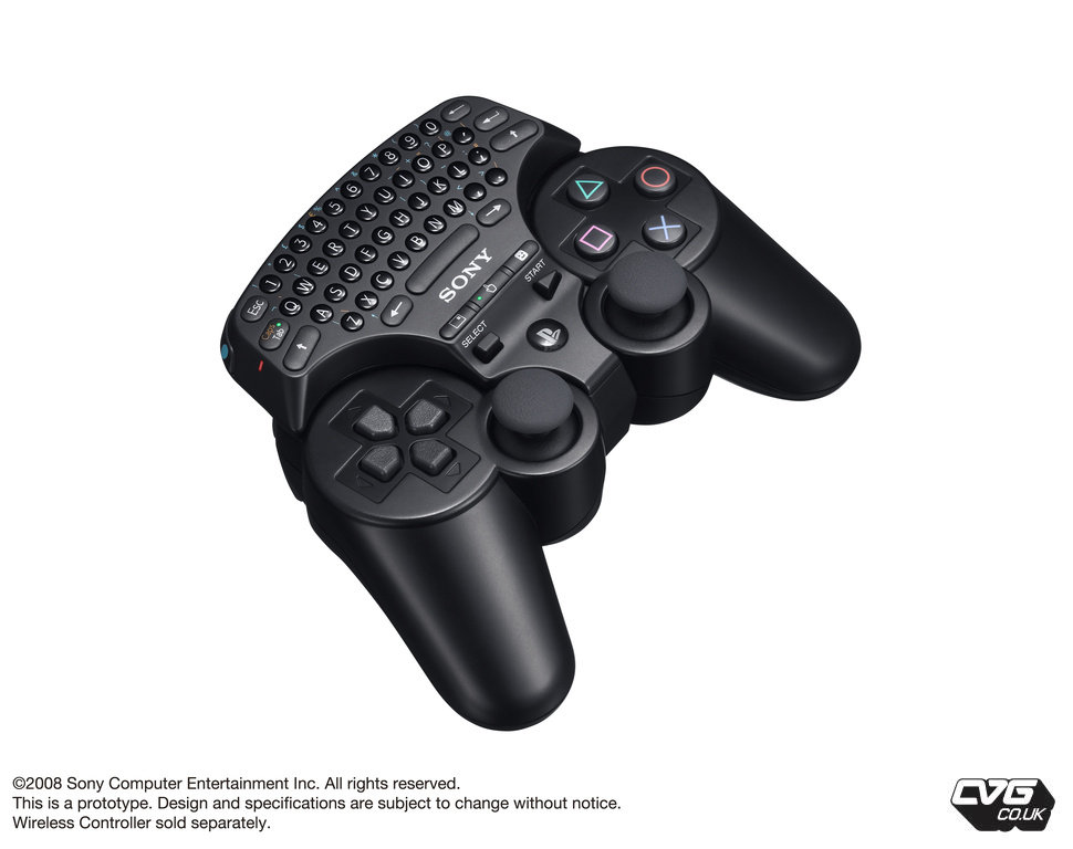 QWERTY keyboard for PS3 Controller