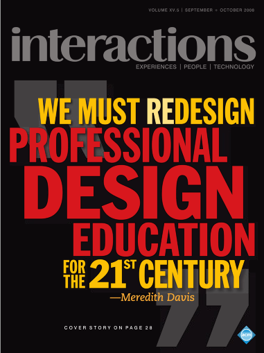 Cover of <Interactions> Sep-Oct edition, 2008